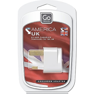 Go Travel North & South America to UK Grounded Adapter
