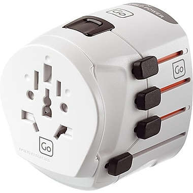 Go Travel Worldwide Earthed Grounded Adapter
