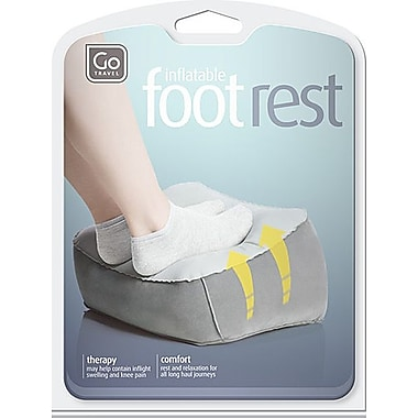 Go Travel Inflatable Foot Rest, Grey