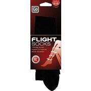 Go Travel - Bas de compression pour voyage aérien, grand, noir