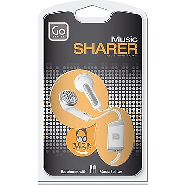 Go Travel Share Phones Earphones with Integrated Sound Splitter