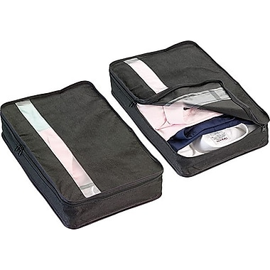 Go Travel Shirt Saver Packing Organizer, Black, 2/Pack
