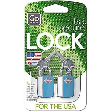 Go Travel Mini Glo Travel Sentry® Lock, Blue, 2/Pack