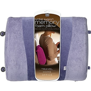 Go Travel Memory Foam Lumbar Support, Purple