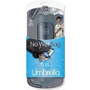 Go Travel - Parapluie de voyage rétractable dans sa poignée, gris