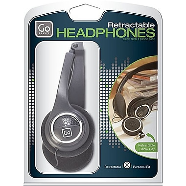 Go Travel Folding Headphones, Black