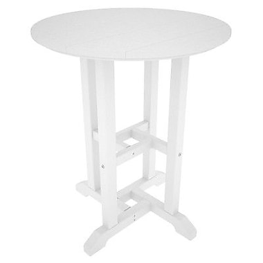 POLYWOOD Traditional Dining Table; White