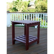 Shine Company Inc. Square Side Table; Mahogany