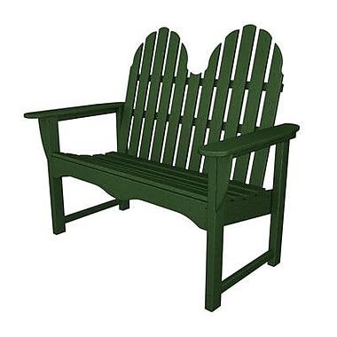 POLYWOOD Adirondack 48'' Plastic Garden Bench; Hunter Green
