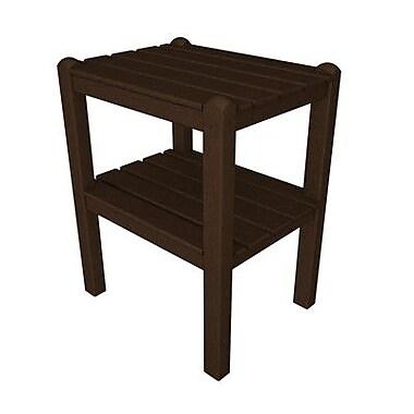 POLYWOOD 12 Shelf Side Table; Mahogany