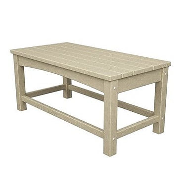 POLYWOOD Club Coffee Table; Sand