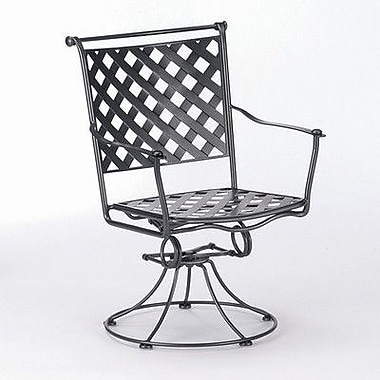 Woodard Maddox Swivel Patio Dining Chair; Hammered White