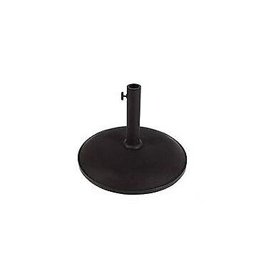 Fiberbuilt Leonard Concrete Free Standing Umbrella Base; Black