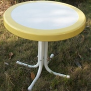 4D Concepts Metal Retro Round Side Table; Yellow
