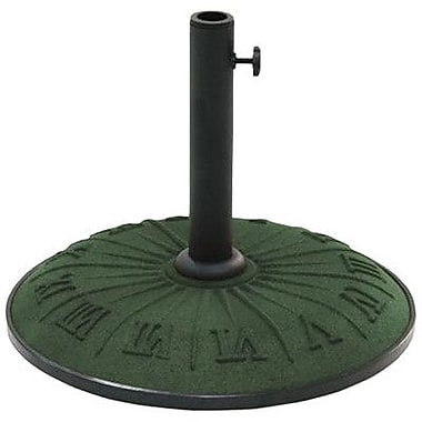 International Caravan Resin Free-Standing Umbrella Stand; Forest Green
