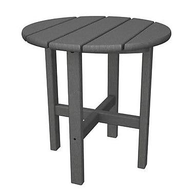 POLYWOOD Side Table; Slate Grey
