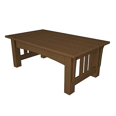 POLYWOOD Mission Coffee Table; Teak