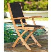 Three Birds Casual Riviera Folding Patio Dining Chair; White