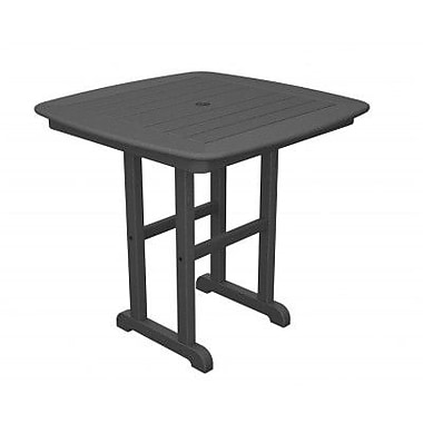 POLYWOOD Nautical Dining Table; Slate Grey