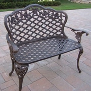 Oakland Living Tea Rose Aluminum Garden Bench; Antique Bronze