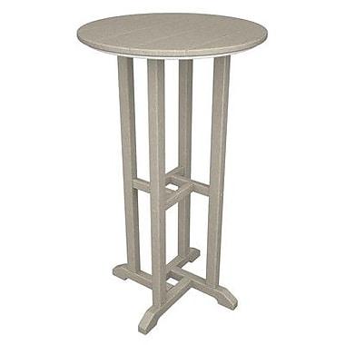 POLYWOOD Traditional Bar Table; Sand