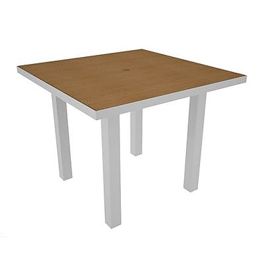 POLYWOOD Euro Dining Table; Silver & Plastique