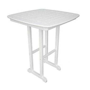 POLYWOOD Nautical Bar Table; White
