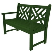 POLYWOOD  Chippendale 48'' Plastic Bench; Green