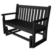 POLYWOOD  Traditional Garden 48'' Glider Bench; Black