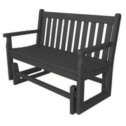 POLYWOOD  Traditional Garden 48'' Glider Bench; Slate Grey