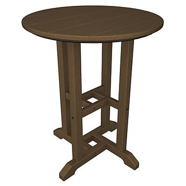 POLYWOOD Traditional Dining Table; Teak