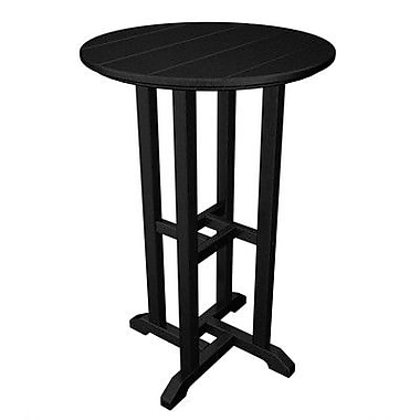 POLYWOOD Traditional Bar Table; Black