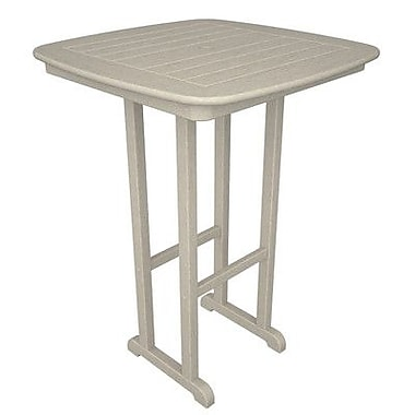 POLYWOOD Nautical Bar Table; Sand