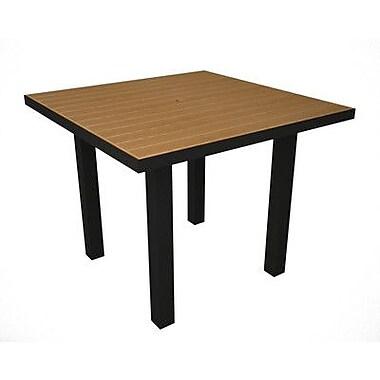 POLYWOOD Euro Dining Table; Black & Plastique