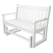 POLYWOOD  Traditional Garden 48'' Glider Bench; White