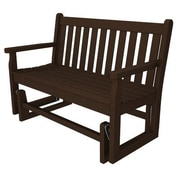 POLYWOOD  Traditional Garden 48'' Glider Bench; Mahogany