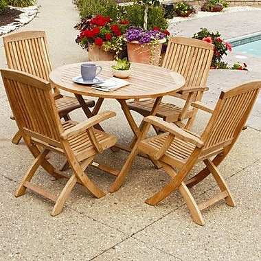 Three Birds Casual Cambridge 30'' Round Folding Cafe Table