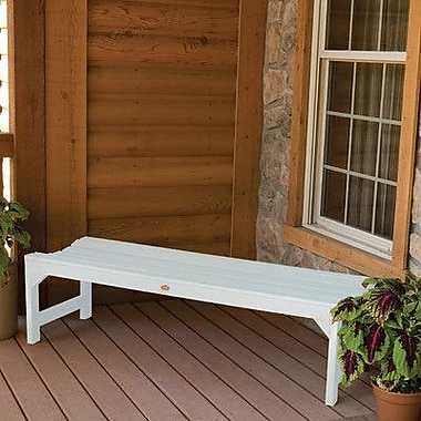 Buyers Choice Phat Tommy Metal Wood Kepner Picnic Bench; White