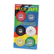 Chartpak® Deco Tapes, Assorted Colours, 6/Pack