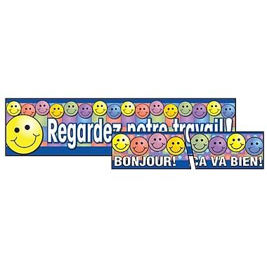 Ensemble bannière et banderole en français