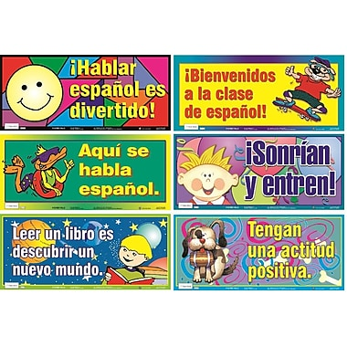 Ensemble d'affiches variées en espagnol