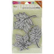 """Stampendous® 7"""" x 5"""" Halloween Jumbo Cling Rubber Stamp, Leaves"""