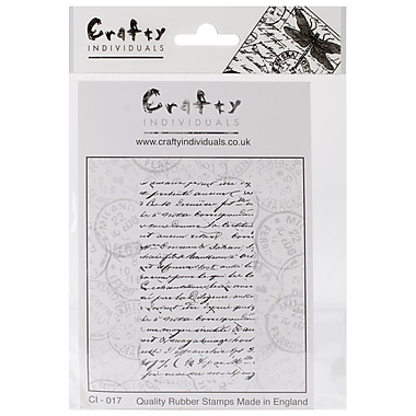 Crafty Individuals 51 mm x 90 mm Unmounted Rubber Stamp, French Script