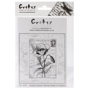 Crafty Individuals 60 mm x 85 mm Unmounted Rubber Stamp, Pretty Poppy