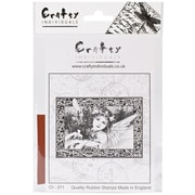 Crafty Individuals 85 mm x 60 mm Unmounted Rubber Stamp, An Adorable Christmas Angel