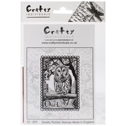 Crafty Individuals 60 mm x 80 mm Unmounted Rubber Stamp, Airmail Owl