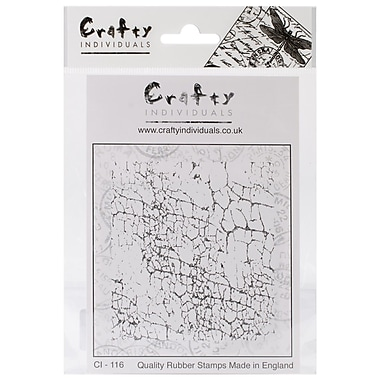 Crafty Individuals 82 mm x 90 mm Unmounted Rubber Stamp, Crackle Background