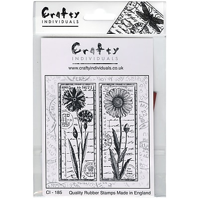 Crafty Individuals 77 mm x 95 mm Unmounted Rubber Stamp, Tall Wild Flowers