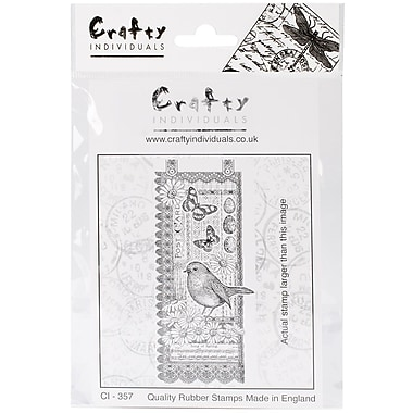 Crafty Individuals 63 mm x 140 mm Unmounted Rubber Stamp, Springtime Robin