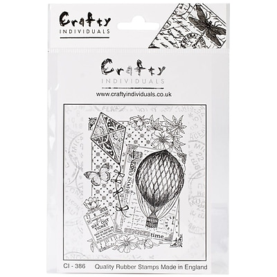 Crafty Individuals 72 mm x 97 mm Unmounted Rubber Stamp, Summertime